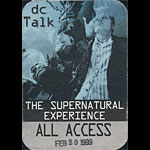 dc Talk The Supernatural Experience All Access Backstage Pass