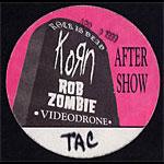 Korn Rock Is Dead Backstage Pass
