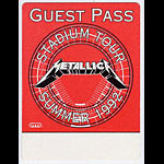 Metallica 1992 Red Guest Pass