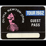 Olivia Newton-John 1982 Physical Guest Pass