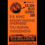 BB King Phone Pole Poster