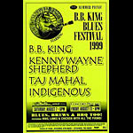 BB King Blues Festival 1999 Phone Pole Poster
