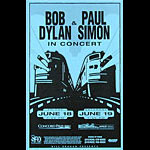 Bob Dylan and Paul Simon Phone Pole Poster