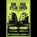 Bob Dylan and Paul Simon Phone Pole Poster