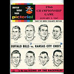 1966 AFL Championship Pro Football Program