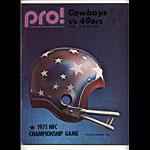 1971  NFC Championship Pro Football Program
