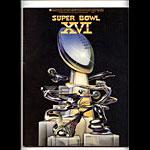 Super Bowl XVI Pro Football Program