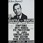 Jello Biafra For Mayor Punk Flyer / Handbill