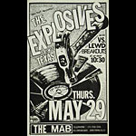 The Explosives (Roky Erickson of 13th Floor Elevators) Punk Flyer / Handbill