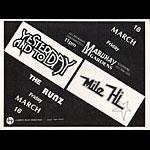 Roger/Reyes Yesterday And Today Punk Flyer / Handbill