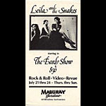 Leila and the Snakes Punk Flyer / Handbill