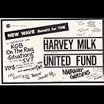 New Wave Benefit for the Harvey Milk United Fund Punk Flyer / Handbill