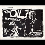Everson The Dils Punk Flyer / Handbill