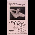 The Gloria Balsam Show Punk Flyer / Handbill