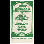 Stanley Mouse Mouse BG106 John Mayall Thurs. 1968 Fillmore Ticket