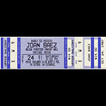 Joan Baez 1987 Portland Ticket