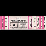 Bruce Cockburn 1989 Portland Ticket