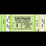 King Crimson 1984 Santa Cruz Ticket