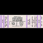 Lyle Lovett 1989 Portland Ticket