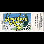 Mountain Aire 1976 Ticket