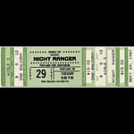 Night Ranger 1987 Portland Ticket