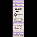Poison 1989 Portland Ticket