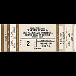 Warren Zevon 1988 Portland Ticket