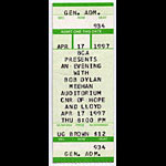 Bob Dylan 1997 Ticket