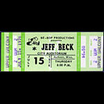 Jeff Beck 1976 ticket