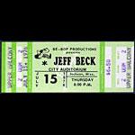 Jeff Beck 1976 ticket