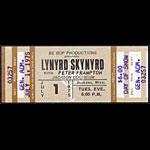 Lynyrd Skynyrd 1975 ticket