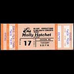 Molly Hatchet 1981 ticket