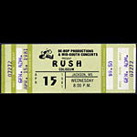 Rush 1981 ticket