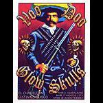 Marco Almera Voo Doo Glow Skulls Poster