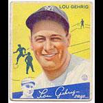 1934 Goudey Lou Gehrig Baseball Card